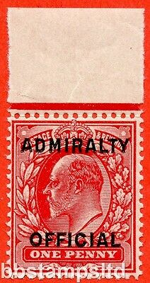 SG. 0108. MO37. 1d scarlet. Admiralty Official Type II. UNMOUNTED MINT.