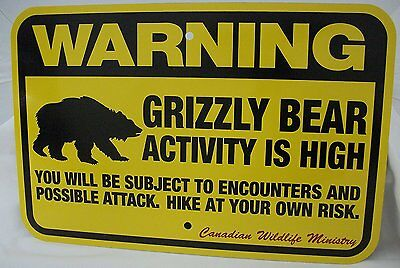 "B GRADE Warning Bear Traps Sign, 12x18"" Slight Imperfections SOLD AS IS"