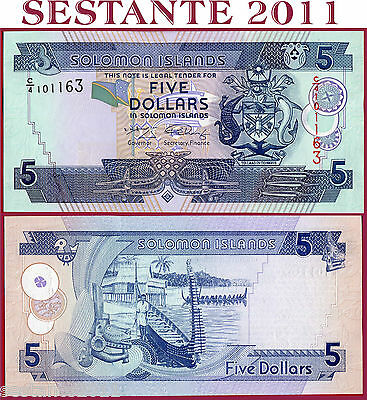 SOLOMON ISLANDS   ISOLE SALOMONE - 5 DOLLARS 2006 (2008)   - P 26b  - FDS / UNC