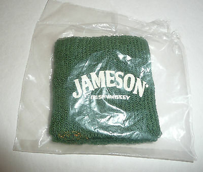 GREEN Jameson Irish Whiskey Wrist Sweat Band - NEW IN PACKAGE