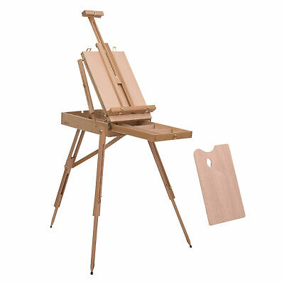 HOMCOM Tripod Art Easel Wooden Drawing Board Workstation Folding French Sketch