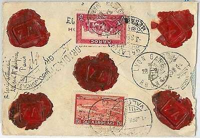 French Colonies: MAROC Morocco -  POSTAL HISTORY - COVER to ROMANIA - NICE! 1934