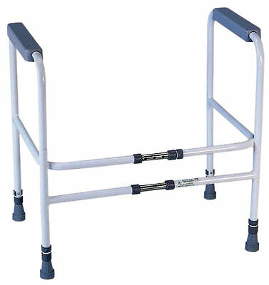 Height and Width Adjustable Toilet Frame Mobility Toilet Aid // RRP £59.99