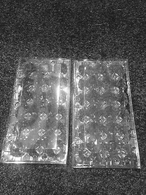 100 Quail Egg Cartons PET. Holds 18 Eggs. Close Nice And Tight. Ships From PA