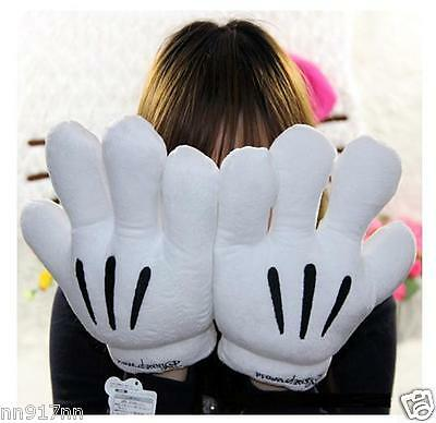 New Kids/Adults Disney Mickey Minnie Mouse Big Hands Costume Cosplay Gloves #AU