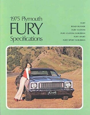 1975 Plymouth Fury Specifications Brochure Canada my4892