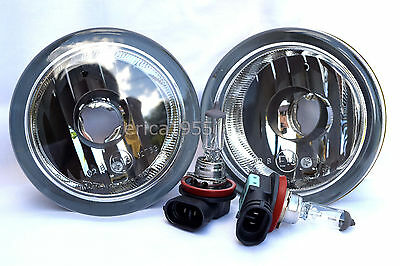 For 05-10 Frontier Pathfinder Glass Fog Light Lamp RL H  Pair W//Bulbs NEW