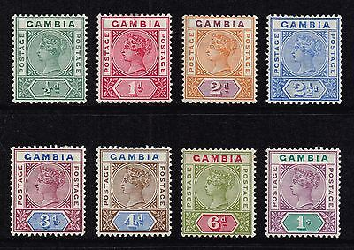Gambia 1898-1902 Queen Victoria set to 1s., MH (SG#37/44)