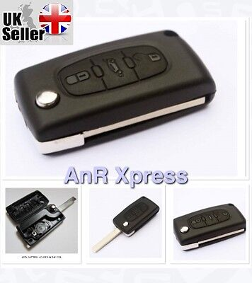 3 Button Replacement FOB Key Case Uncut Blade For Peugeot 207 307 407 308 607