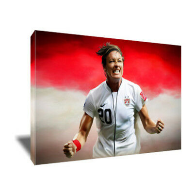 USWNT Soccer Star ABBY WAMBACH Poster Photo Painting Artwork on CANVAS Wall Art