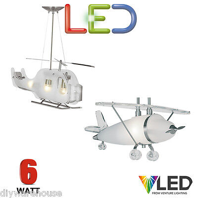Searchlight Led Childrens Bedroom Light Ceiling Pendant Plane Helicoter Quality