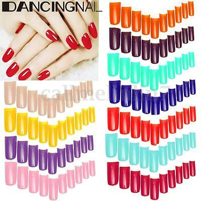 100Pcs French Capsules Acrylique Faux Ongles Extension Gel UV Nail Art Tips