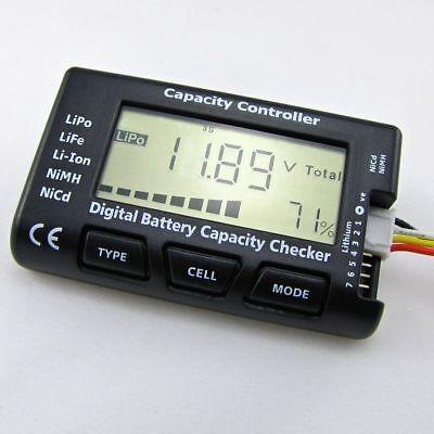 Digital Battery Capacity Checker Cell Meter For LiPo LiFe Li-ion RC Models