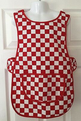 Wholesale Job Lot 20 Brand New Kids Tabard Aprons Red White Check Craft Toddler