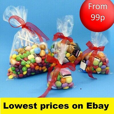 Clear Cellophane Cello Display Bags Lollipops Sweets Cake pops Party Birthday