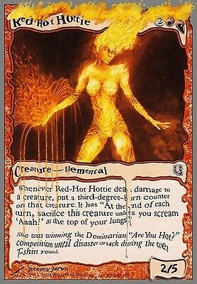 4x Red-Hot Hottie MTG MAGIC Unh Unhinged English