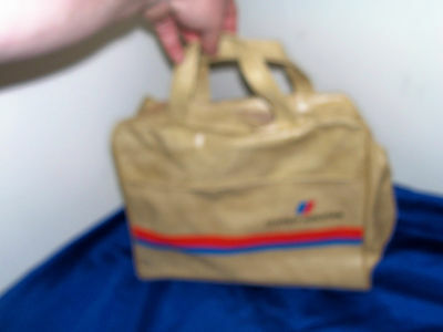 Vintage United Airlines Carry On Bag Souvenir Stewardess Overnight Old Case Hand