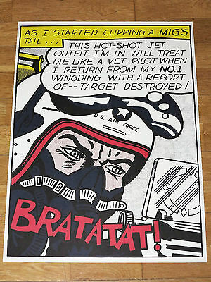 ROY LICHTENSTEIN POSTER - AS I STARTED CLIPPING A MIG´S TAIL... in MINT