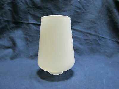 """Vintage Mid Century White Painted Glass Oil Lamp Shade,Chimney,Globe 5.5"""" Tall"""