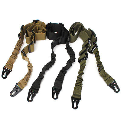 Sangle Tactique Réglable Sling 2 Point Swiss Arms Snap Hook Paintball Airsoft