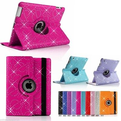 SMART 360 Rotate BLING SPARKLY PRO case cover Apple iPad 6 5 4 3 2 Air 1 2 Mini