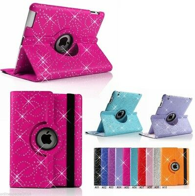 iPad 4 3 2 Air Pro Mini 5th 6th Gen - 360 Rotate BLING SPARKLY case (OPT SP)