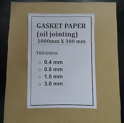 Gasket Paper, Oil Jointing, 0.8 Mm, Diy Gaskets !!!