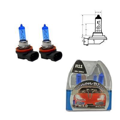 H11 7500K 100W Replacement Fog Light / Lamp Bulbs HID Look - Audi A4 B8 (08-12)