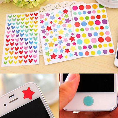 6pcs/Set Rainbow Sticker Diary Planner Journal Scrapbook Ablums Decorative Tool