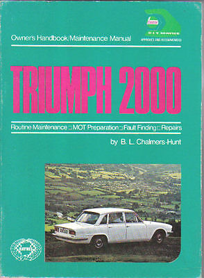 Triumph 2000 2.5 PI from 1963 on Haynes Owners Handbook & Maintenance Manual