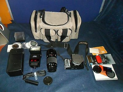 MINOLTA Maxxum 7000 Camera Lot W/ 50mm & AF 70-210 Lens + 4000 AF Flash VG !