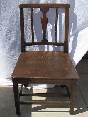 Vintage Oak Side Chair.