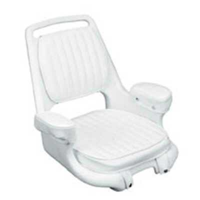 Moeller Marine ST2080-HD White Boat Seat with Cushion Set & Mounting