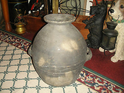 Antique Pottery Vase Vessel-Bee Hive Shape-American Or Asian Pottery Vase-Large