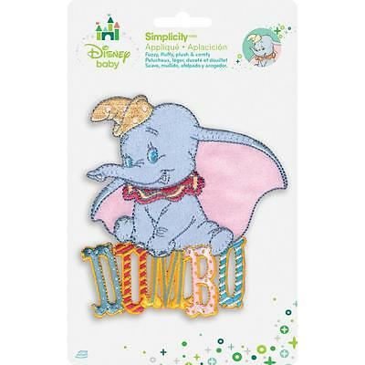 Iron on Applique Disney Baby Dumbo sitting on his name 1936138001 Simplicity