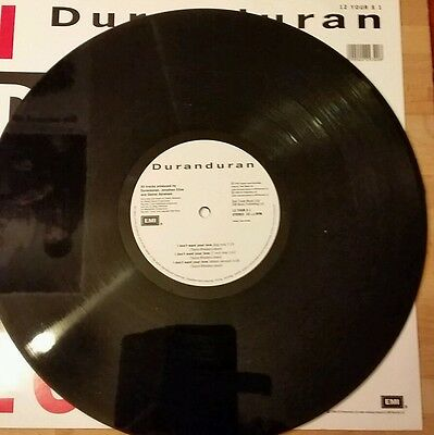 """Duran Duran I don't want your love  Etched Single  12"""" Pre Owned Vinyl"""