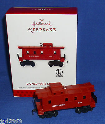 Hallmark Ornament 2013 Lionel Trains 6017 Caboose Artist Crafted and Metal NIB