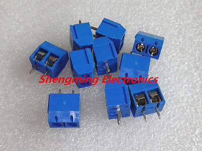 20pcs KF301-2P 2 Pin Plug-in Screw Terminal Block Connector 5.0mm Pitch