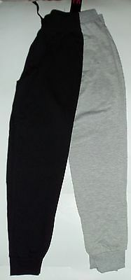 Girls 2 pack Lightweight Summer Jogging Trousers 1 Black and 1 Grey