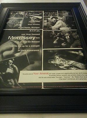 Morrissey Your Arsenal Rare Promo Poster Ad Framed! Printed Once!
