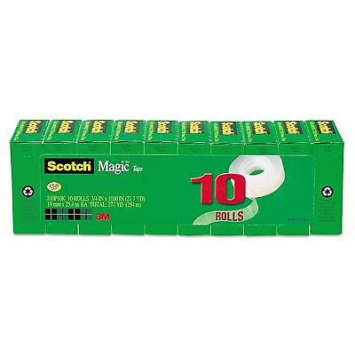 Scotch Magic Tape,3M 810P10K, 3/4 in.x1000 inch, 1 inc Core, 10/PK FREE SHIPPING