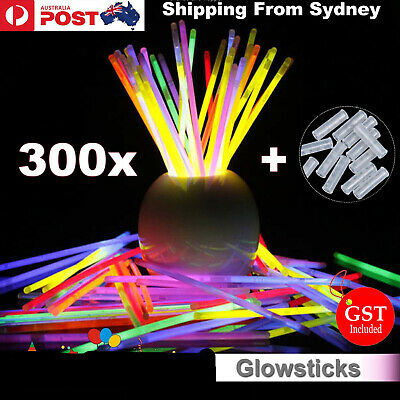 300Pcs Mixed Color Glow Sticks Bracelets Light Party glowsticks glow in the dark