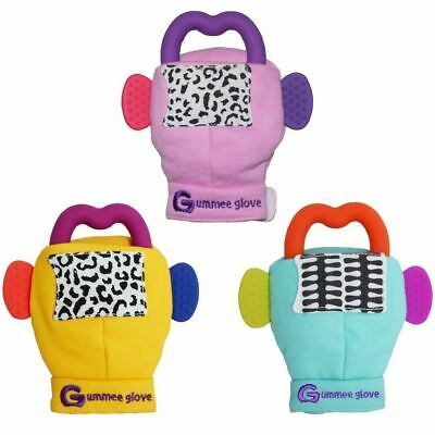 Gummee Glove Baby Teething Mitten Silicone Heart Shape Teether Ring Toy