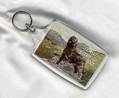 Key Ring Lovely Briard And Sheep Dog Food Advert Print Image Insert Great Gift