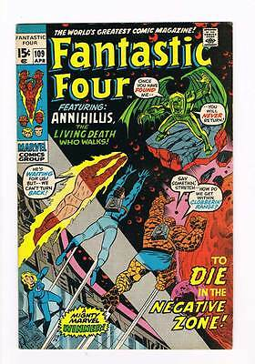 Fantastic Four # 109  To Die in the Negative Zone ! grade 8.5 scarce hot book !!