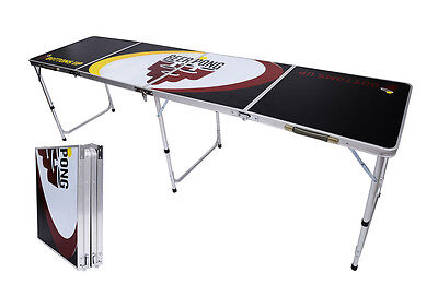 New Beer Pong Table 8' Aluminum Folding Indoor Outdoor Tailgate Drinking Game #6