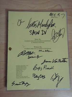 SAW IV SCRIPT SIGNED BY 12 - e.g. BETSY RUSSELL  COSTAS MANDYLOR  MARCUS DUNSTAN