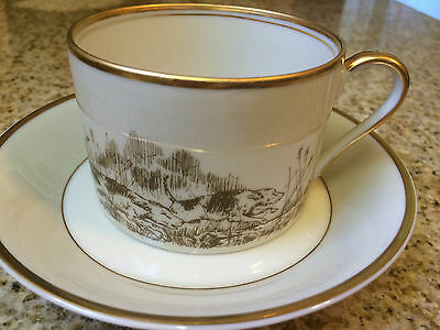"""Fitz And Floyd """"The Hunt"""" Tea Cup & Saucer Set"""