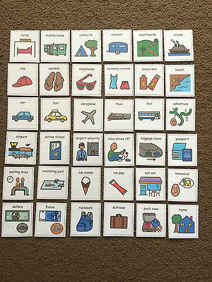 PECS/Boardmaker Going on Holiday Cards for Autism/ASD/ADHD/SEN/stroke