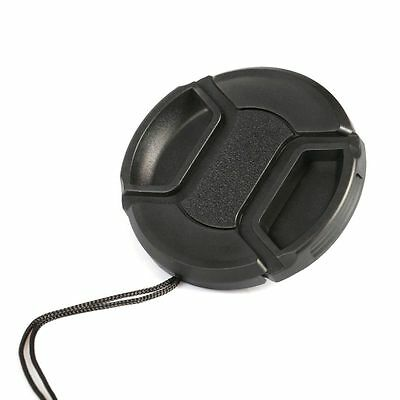 62mm Center Pinch Snap on Front Lens Cap Cover for Digital Camera with String